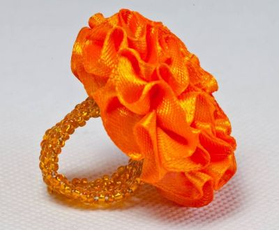 Bague frou frou orange