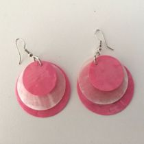 Boucles Hulo ronde rose