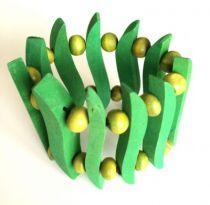 Bracelet Bois Vert