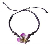 Bracelet coulissant violet