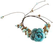 Bracelet fleur bleu