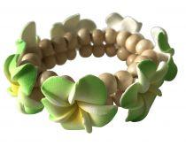 Bracelet frangipanier vert