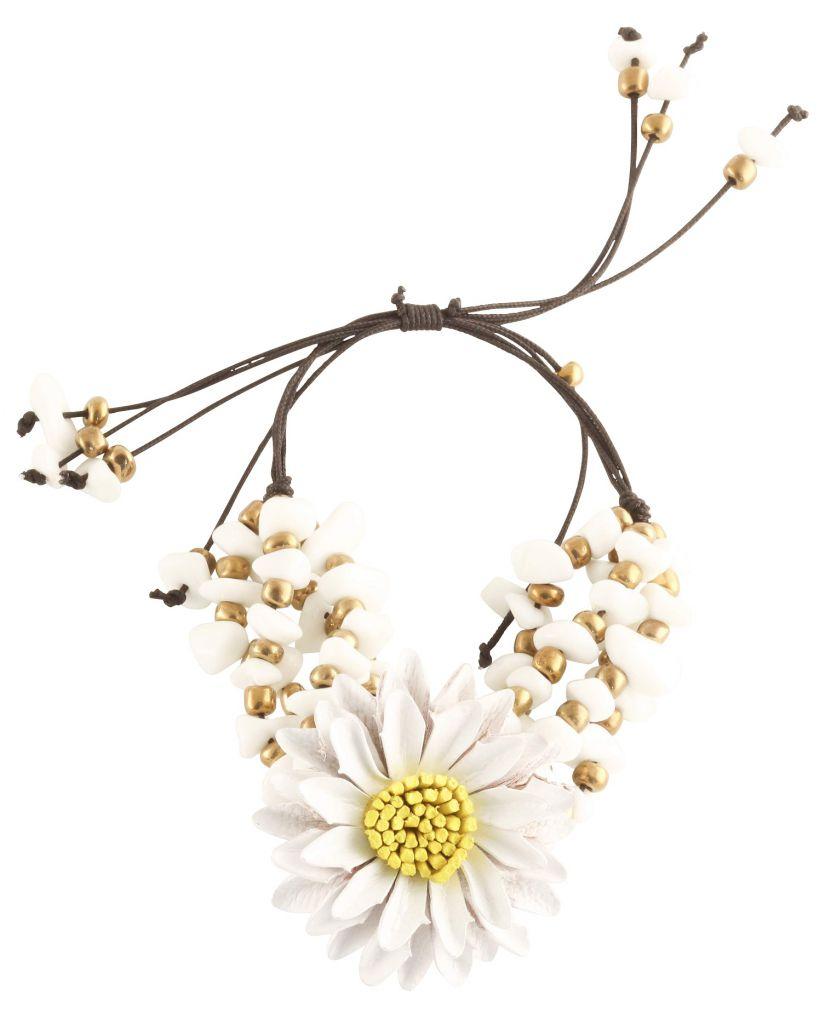 Bracelet paquerette blanc