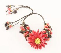 Bracelet paquerette rouge