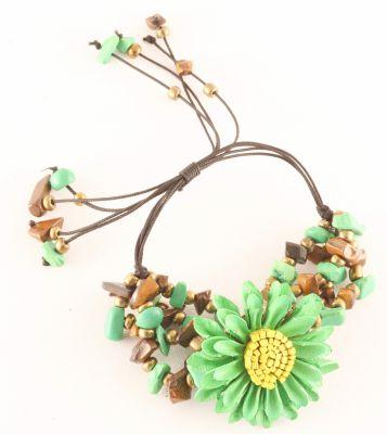 Bracelet paquerette vert