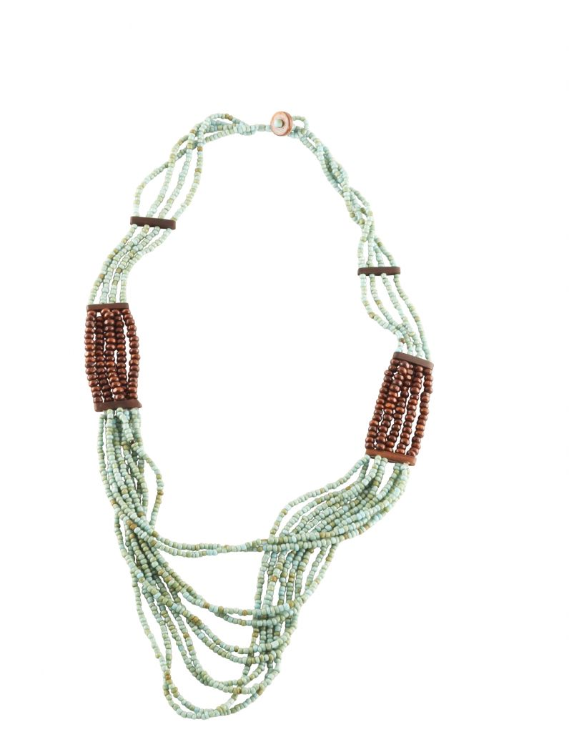 Collier holidays bleu turquoise