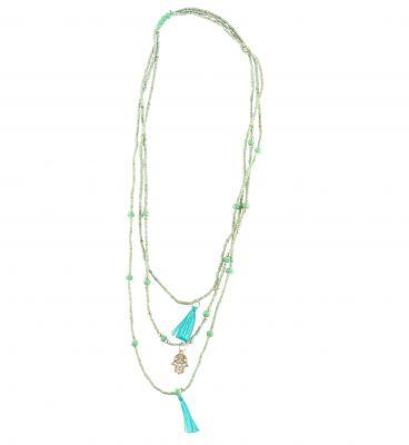 Collier main de Fatma bleu turquoise