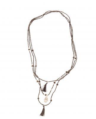 collier main de Fatma noir