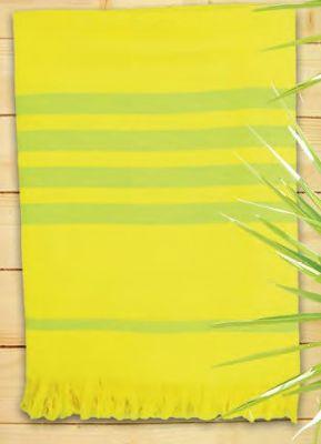 Fouta léger jaune de la marque Comptoir de la plage.