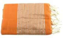 Fouta lurex orange et argenté