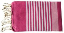 Fouta Mahdia duo de rose