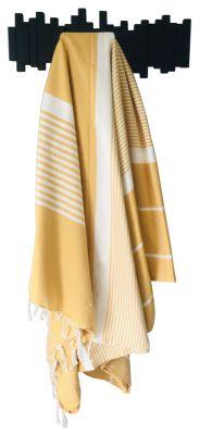 Fouta Mahdia jaune et blanc