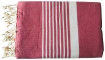 Fouta Mahdia rose et blanc