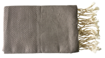 Fouta nid d\'abeille taupe