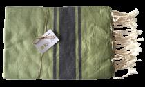 Fouta plate bicolore gris et vert