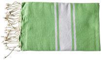 Fouta plate vert et blanc