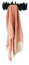 Fouta Tunisie rayée orange