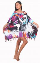 Grande robe paréo Lion violet