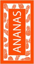 Grande serviette orange ananas