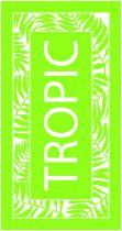 Grande serviette verte Tropic