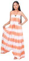 Longue robe d\'été tie dye orange