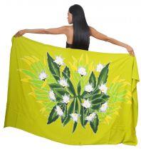 Paréo bouquet de tiare apetahi vert
