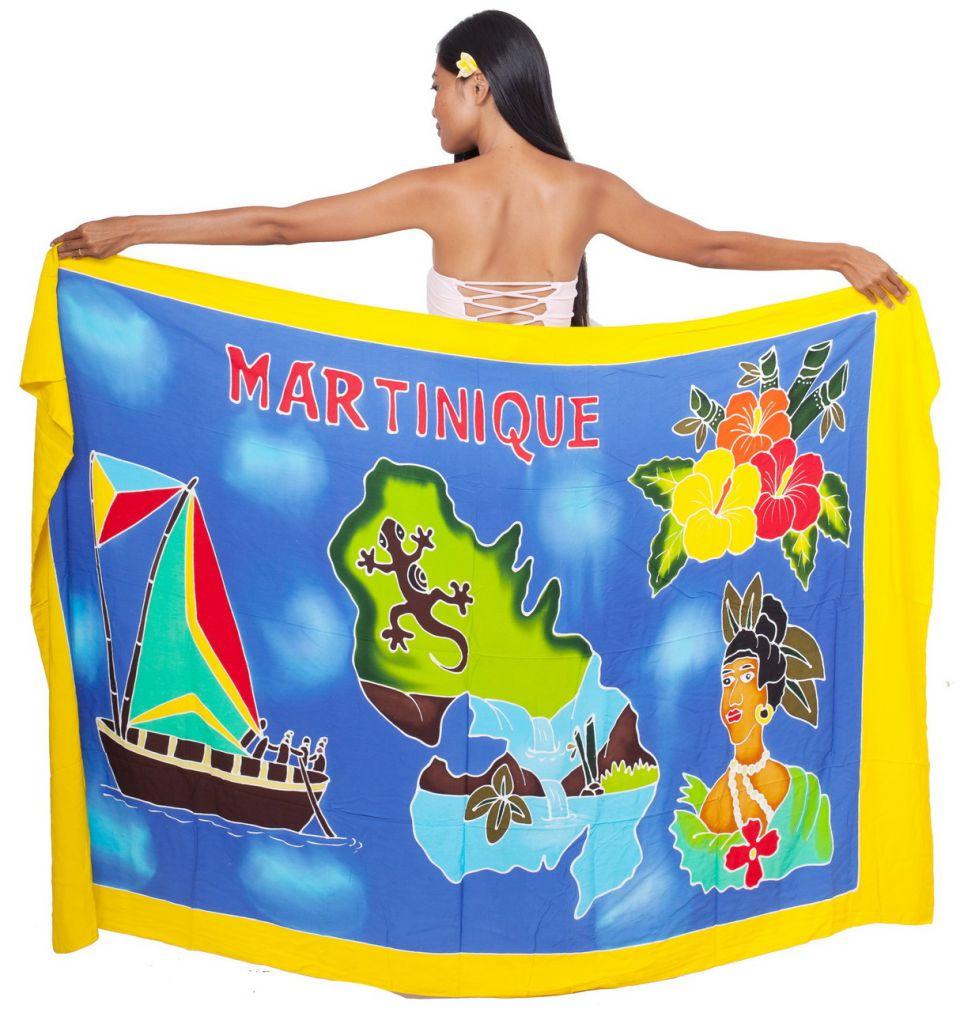 Paréo carte La Martinique