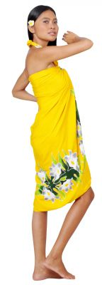 Paréo couronne de fleurs jaune