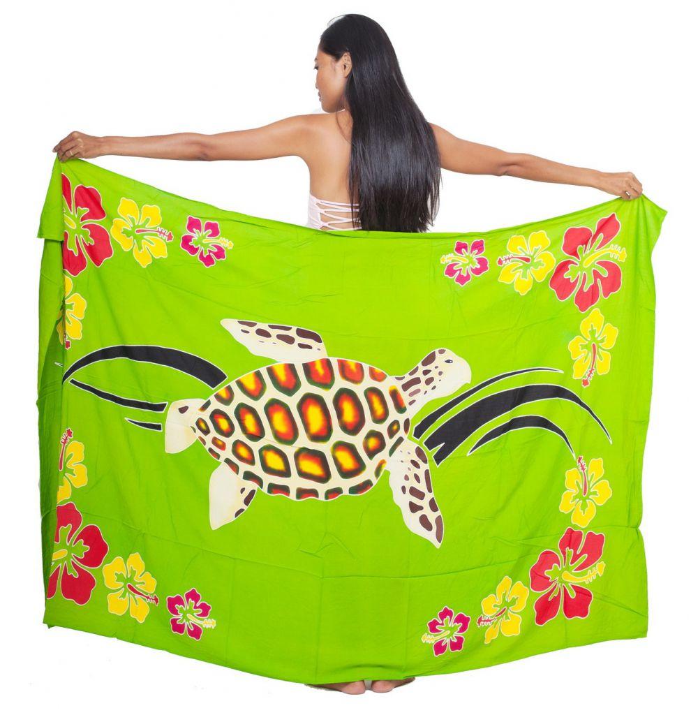 Paréo de bain vert