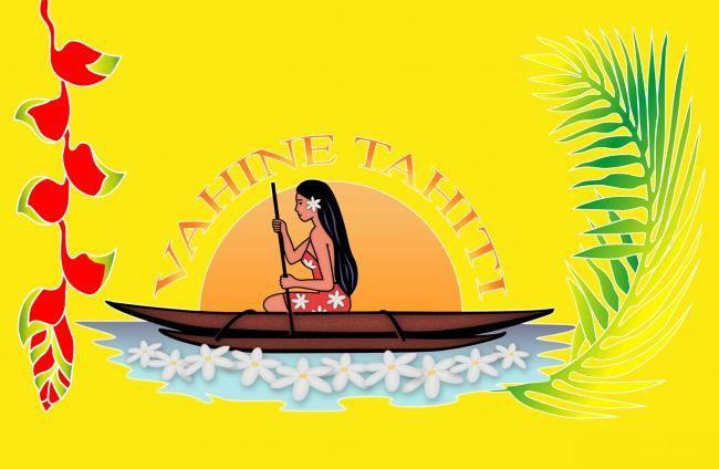Paréo fleuris Vahine Tahiti jaune