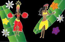 Paréo Heiva Tahiti noir