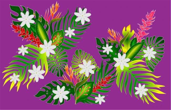 Paréo Indien violet
