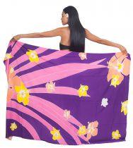 Paréo Tahiti motu violet