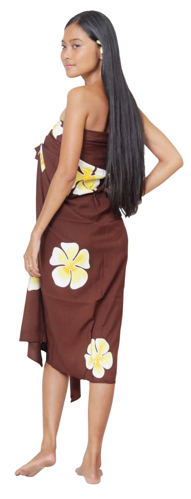 Paréo Tahiti Pahoho marron
