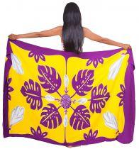 Paréo Tifaifai jaune et violet