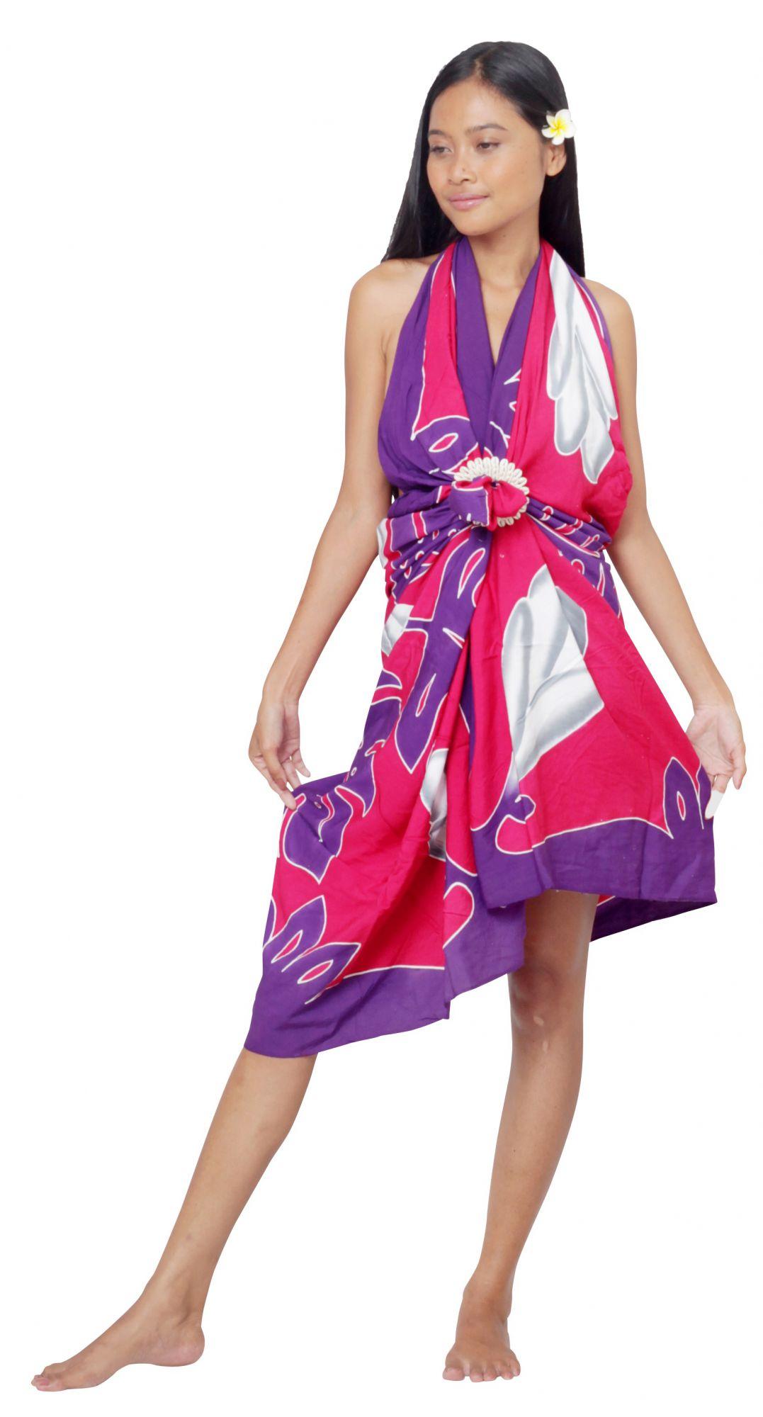 Paréo Tifaifai rose et violet
