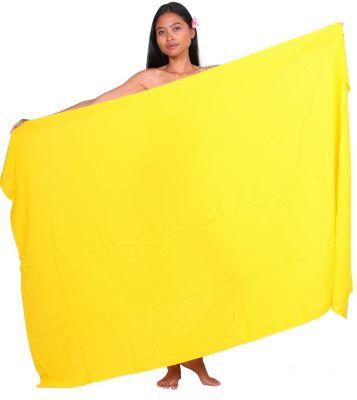 Paréo uni jaune