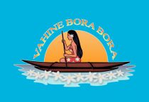 Paréo Vahine Bora Bora bleu
