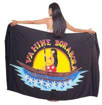 Paréo Vahine Bora Bora noir