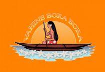Paréo Vahine Bora Bora orange