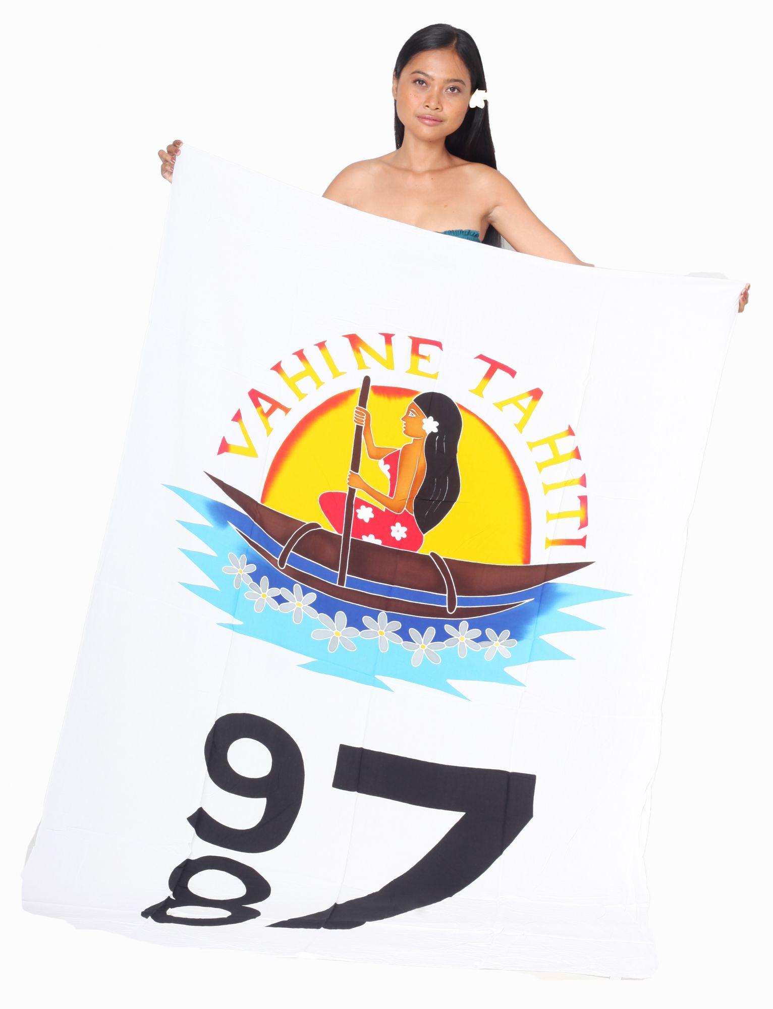 Paréo Vahine Tahiti 987 blanc