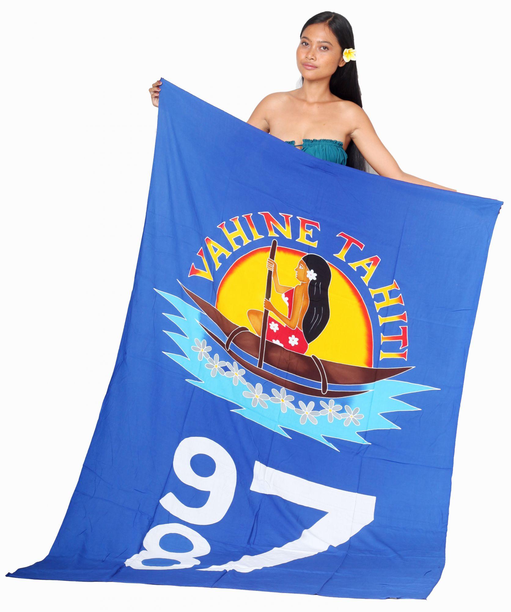 Paréo Vahine Tahiti 987 bleu