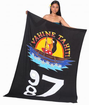 Paréo Vahine Tahiti 987 noir