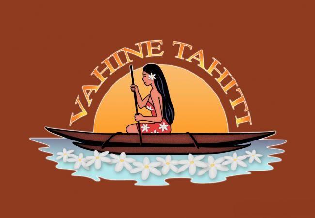 Paréo Vahine Tahiti marron