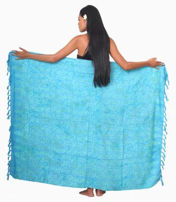 Paréos Batik Amman bleu turquoise