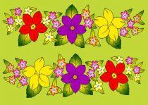 Paréos bouquet de monettes vert