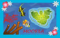 Paréos drapeau Morea bleu