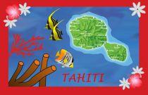 Paréos drapeau Tahiti rouge
