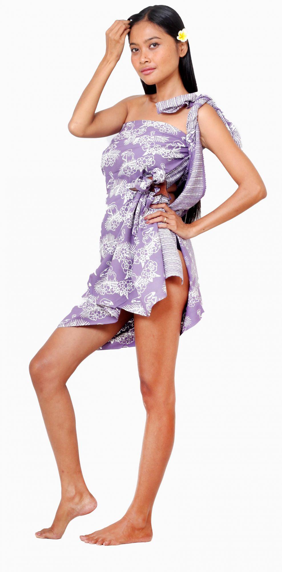 Paréos Madi violet+ boucle