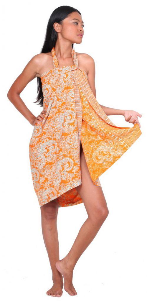 Paréos Malia orange + boucle